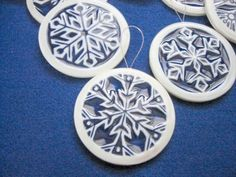 Dutch Flake - Ceramic Snowflake Ornament via Etsy