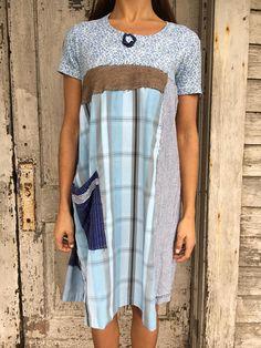 Lillian dress-small medium-artsy-Eco Clothing-Upcycled