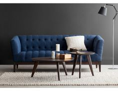 CARLY - 3-seater sofa - Blue