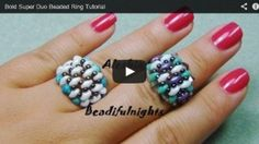 beading video tutorials - Bold Super Duo Beaded Ring Tutorial