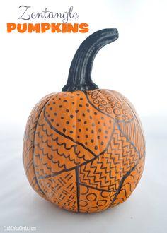 Zentangle Pumpkin Decorating Idea