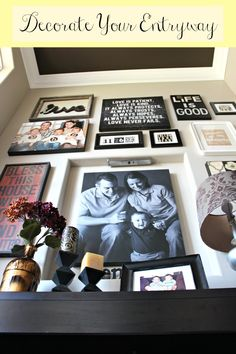 Ideas on decorating your Front Entryway  love the framed date (@frame the date)