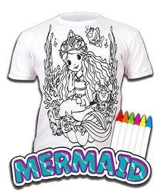 80c403fb Splat Planet Colour In T-Shirt Girls Unicorn Princess Mermaid Fairies  Ballerina #SplatPlanet #