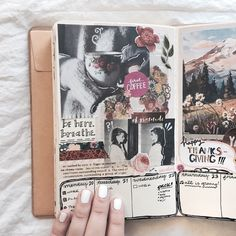 """hannybstudies: """"11.22.2017 """"this week I created two different spreads using the same exact pictures — here's a look at the first attempt! this layout is inspired by this post from @journalsanctuary """" follow my studygram: @hannybstudies """""""