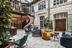 The Hoxton, Paris / Soho House Boutique Hotel Paris, A Boutique, Hotel Lobby, Terrazo, Soho House, Paris Design, Co Working, Paris Hotels, Paris Restaurants