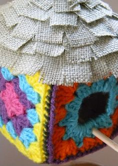 Sew and Tell: granny square birdhouse