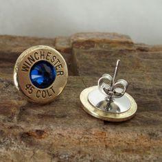 Bullet  Earrings  - Ultra Thin - Colt 45 - Big Sky. $14.99, via Etsy.