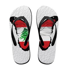 Vintage Butterfly Lebanon Flag Unisex's Flip Flops ** Check out this great product.