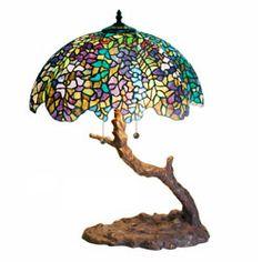 Tiffany-style Tree Lamp