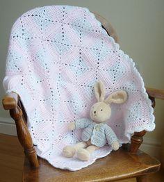 Crochet baby blanket by chrismadethis, via Flickr