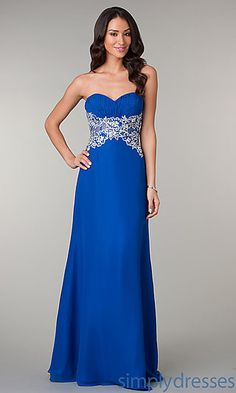 Floor Length Strapless Sweetheart Dress at SimplyDresses.com