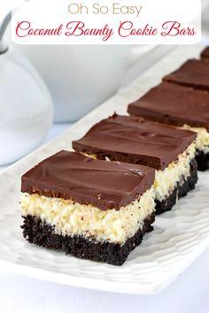Cookie Desserts, Cookie Recipes, Just Desserts, Baking Recipes, Delicious Desserts, Simple Dessert Recipes, Delicious Dishes, Cake Bars, Dessert Bars