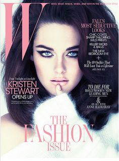 K Stew looking amazing, in love with the big hair, winged liner and pale lip