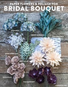 DIY Rustic Paper Bridal Bouquet