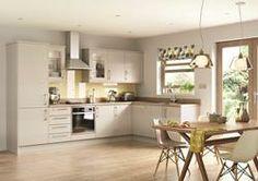 John Lewis Novara Kitchen in Mussel Horizontal Embossed Woodgrain Effect