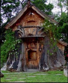 House in a tree, or tree in a house?