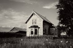 Landscape Photography, Black and White Photography, 8x12 Print, Rustic Decor, Architecture Photography, Home Decor, Vintage, Abandoned, Farm