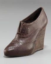 I LOVE this wedge... a little bit lower, though, and I would feel comfortable wearing it more often!