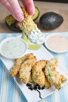 Crispy Baked Avocado Fries Recipe—wow so simple and makes so much sense. I'm surprised I didn't come up with this one.