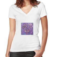 T-shirt femme moulant col V
