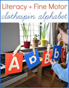 Easy entertainment for kids at home! Practice fine motor skills and literacy in one simple activity.