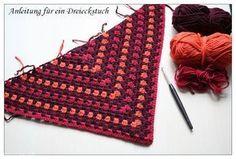 Ein Dreieckstuch häkeln – DIY | Monas Blog