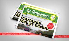 """Lanzamiento Periódico """"La Temporera""""  Chilean Newspapers  #Chile  #SanCarlos  #Chillan #diario #news #Editorial  #noticias #portada #camaron #graphic #design #designer #freelance #informacion #diariochileno #primeraedicion #lanzamiento #creative #typo #octava #region"""