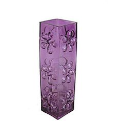 Shop for Tall Purple Glass Vase with Blownout Daisies. Get free delivery On EVERYTHING* Overstock - Your Online Home Decor Outlet Store! Orange And Purple, Shades Of Purple, Purple Bedroom Decor, Purple Vase, Tall Glass Vases, Purple Kitchen, All Things Purple, Purple Stuff, Purple Reign