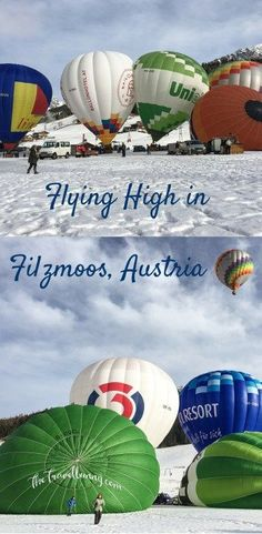 Hot Air Balloon challenge in the snow and Night of the Balloons at Filzmoos, Austria