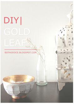 GOLD LEAF BOWLS DIY