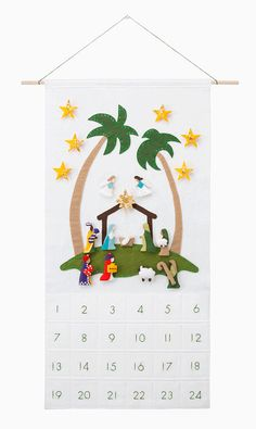Christmas Nativity Scene Advent Calendar Base by SugarHouseShop