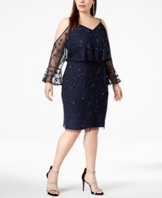 3 4 Sleeve Embellished Lace Fit And Flare Dress I Would