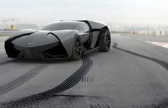 the lamborghini ankonian : they've dubbed it a Batmobile concept.