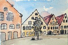 Zeichnung Stadtansicht