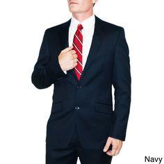 Le Monsieur Men's 2-button Flat Front Tropical Suit