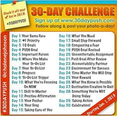 30 Day Push Challenge!  I am going thru all 30 days in September and posting on my journey. Click on the pic to join my Book Club, to take the free challenge yourself and to learn from me what I got out of it.  #teamlyb