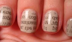 These newspaper nails would really bring out the English major in me :)