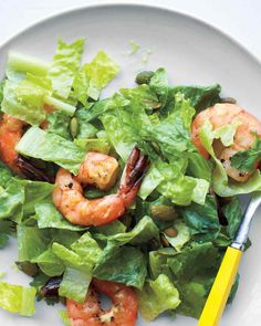 Chopped Salad with Shrimp and Lime-Buttermilk Dressing