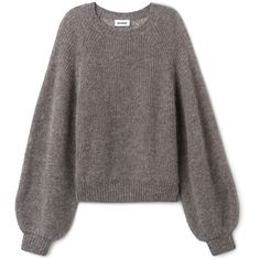 Joni Sweater ($61) ❤ liked on Polyvore featuring tops, sweaters, raglan top, slouchy sweater, tall sweaters, slouchy tops and ruched sleeve top