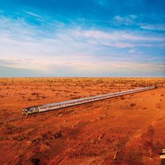 Great Southern Rail's 'Indian Pacific' crossing the Nullarbor Plain. Named after the two great oceans it joins, the Pacific on the east coast & the Indian on the west, the Indian Pacific traverses 4,352km (2,698 miles) between Sydney & Perth.