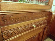 Galfetti and Sons did all the woodwork at the Bar Caffe Rossi in Bellagio, Italy.
