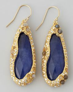 Elements Sodalite Doublet Drop Earrings by Alexis Bittar at Neiman Marcus.  cocktails?