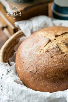 Domácí chléb kváskový | Hodně domácí Food And Drink, Bread, Baking, Recipes, Brot, Bakken, Recipies, Breads, Ripped Recipes