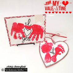 A Valentines Day kid craft that would make perfect gifts! Handmade card an door hanger check out my blog http://thismommaiscrafty.typepad.com  #handmade #kidscraft #DIY