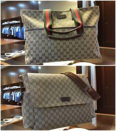 Estes sacos para mamã fazem parte da Coleção Outono-Inverno da Gucci e já se encontram disponíveis na Papillon! Elegantes e versáteis, podem também ser utilizados como mala de viagem ou para transportar um computador portátil.
