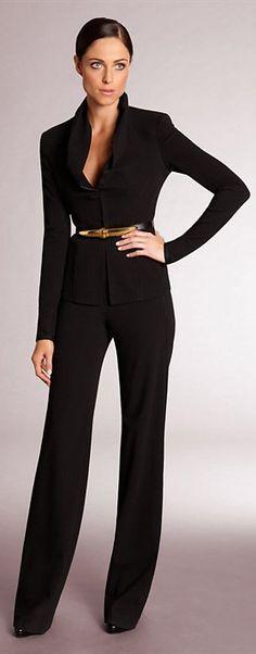 Not so basic black: ✚ Donna Karan Pre Fall 2012