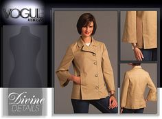 Vogue Patterns 8480 Misses' Jacket - Recommended by PatternReview.com