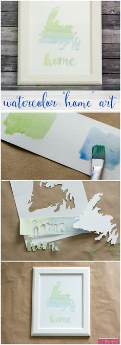 "It's a party with this ""home"" project. DIY watercolor that is easy for anyone!"