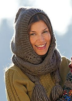 Knitting Pattern For Ladies Hood : 1000+ images about Knit Hooded Scarves on Pinterest ...