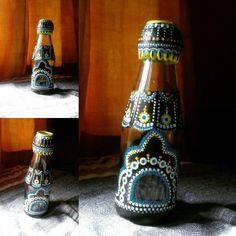 #saucebottle #glassware #creativeart Bottle Art, Sauce Bottle, Insta Art, Creative Art, Hand Painted, Handmade, Color, Home Decor, Hand Made